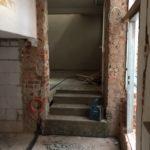 Treppe zur Umkleide